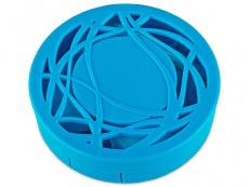 Kazety se zrcátkem - Kazetka s ornamentem - modrá