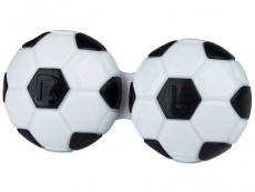Pouzdra na kontaktní čočky - Pouzdro na čočky Fotbal - černé