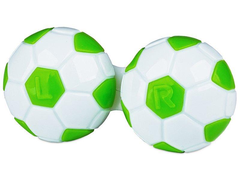 Pouzdro na čočky Fotbal - zelené