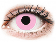Růžové kontaktní čočky - nedioptrické - ColourVUE Crazy Lens - Barbie Pink - nedioptrické (2čočky)