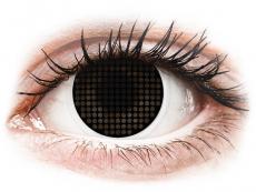 Černé kontaktní čočky - nedioptrické - ColourVUE Crazy Lens - Black Screen - nedioptrické (2čočky)