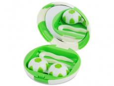 Kazety se zrcátkem - Kazetka Fotbalový míč - zelená