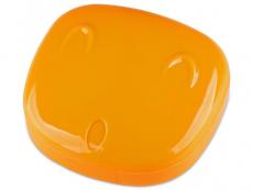 Pouzdra na kontaktní čočky - Kazetka Face - oranžová