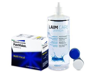 PureVision Multi-Focal (6 čoček) + roztok Laim Care 400 ml