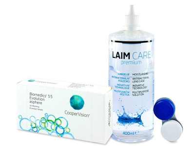 Biomedics 55 Evolution (6 čoček) +roztok Laim Care 400 ml