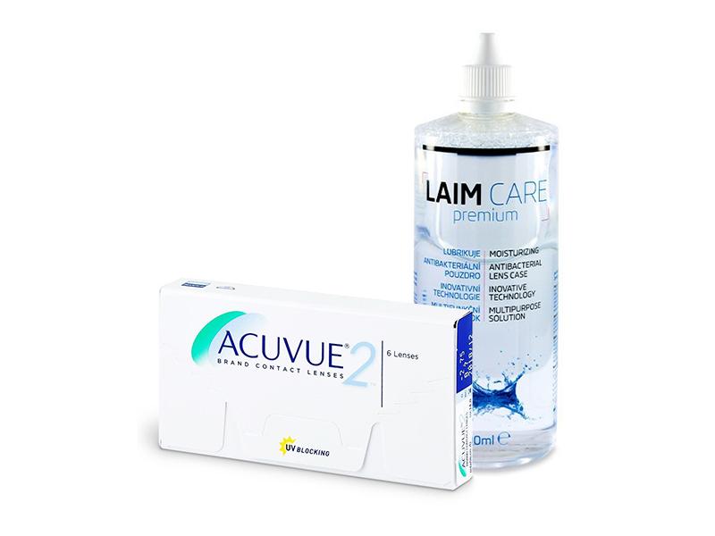 Acuvue 2 (6 čoček) + roztok Laim-Care 400 ml