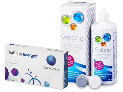 Biofinity Energys (3 čočky) + roztok Gelone 360 ml