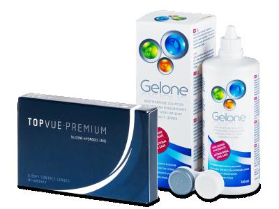 TopVue Premium (6čoček) +roztok Gelone 360 ml
