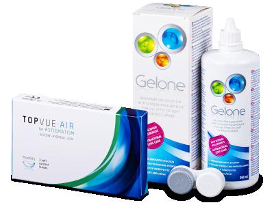 TopVue Air for Astigmatism (3čočky) + roztok Gelone 360 ml