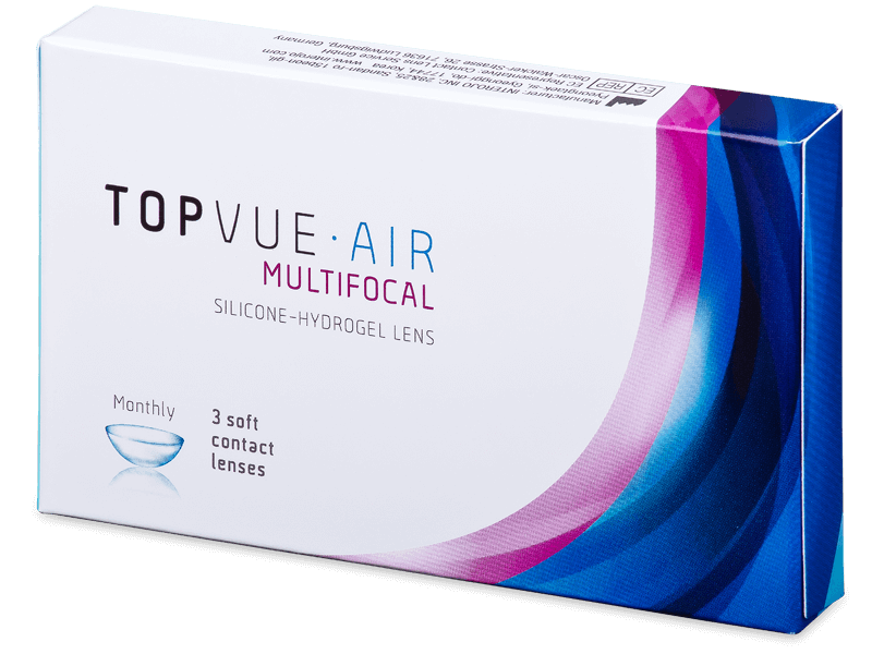 TopVue Air Multifocal (3čočky) - Multifokální kontaktní čočky