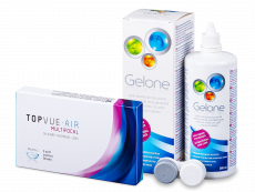 TopVue Air Multifocal (3 čočky) + roztok Gelone 360 ml