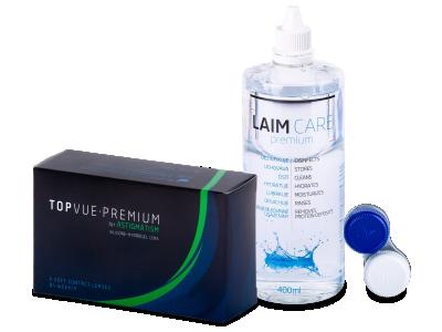 TopVue Premium for Astigmatism (6čoček) +roztok Laim Care 400 ml