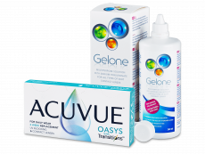 Acuvue Oasys with Transitions (6 čoček) + roztok Gelone 360 ml