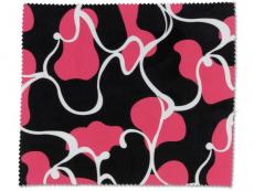 Příslušenství - Čistící hadřík na brýle - růžová a černá