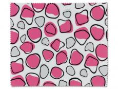 Příslušenství - Čistící hadřík na brýle - růžová a bílá