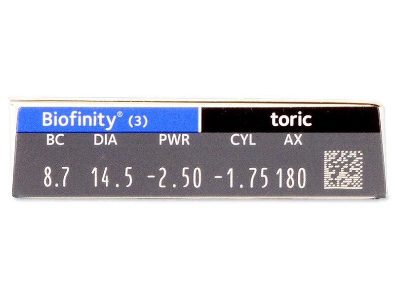 Biofinity Toric (3čočky) -