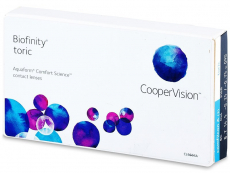 Torické (astigmatické) kontaktní čočky - Biofinity Toric (3čočky)
