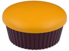 Kazety se zrcátkem - Kazetka se zrcátkem Muffin - oranžová