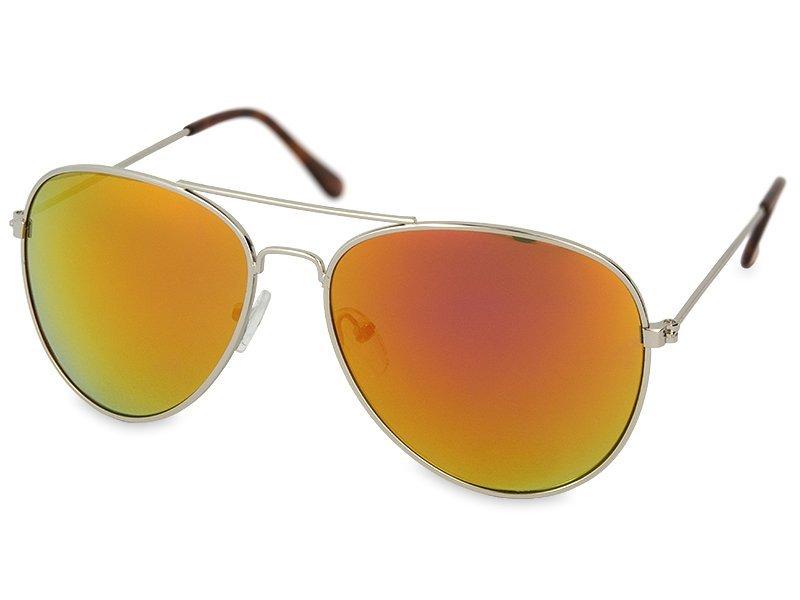Sluneční brýle Silver Pilot - Pink/Orange