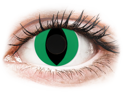 CRAZY LENS - Cat Eye Green - nedioptrické jednodenní (2 čočky)