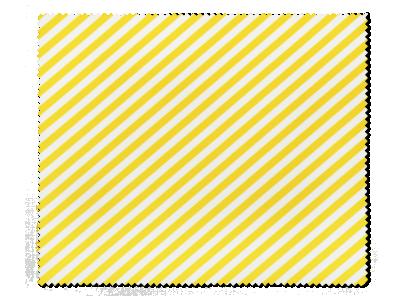 Čistící hadřík na brýle - žluté proužky