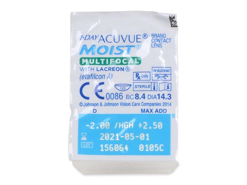 1 Day Acuvue Moist Multifocal (30 čoček) - Blister pack preview