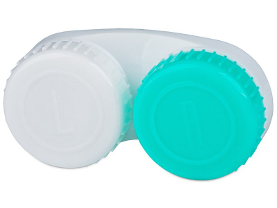 Pouzdro na čočky bílo-zelené