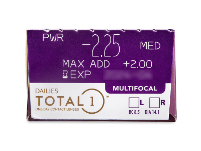 Dailies TOTAL1 Multifocal (30 čoček) -