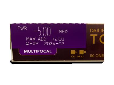 Dailies TOTAL1 Multifocal (90 čoček) -
