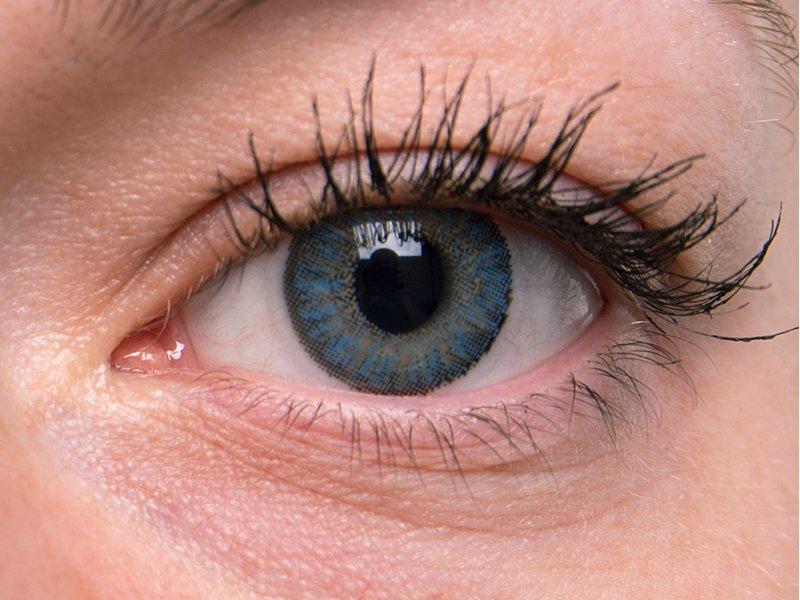 TopVue Color - dioptrické jednodenní (10 čoček) - Blue na šedém oku