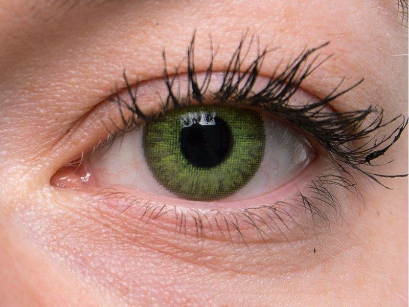 TopVue Color - dioptrické jednodenní (10 čoček) - Fresh green na šedém oku