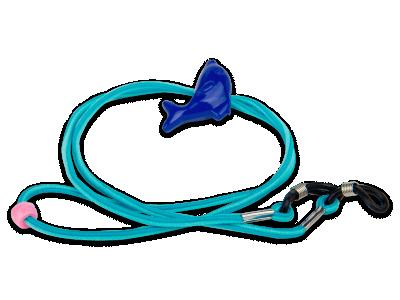 Šňůrka k brýlím modrá - delfín