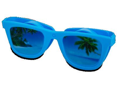 Pouzdro na čočky Optishades - modré