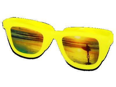 Pouzdro na čočky Optishades - žluté