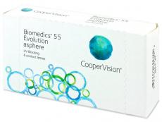 Měsíční kontaktní čočky - Biomedics 55 Evolution (6čoček)