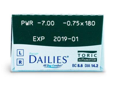 Focus Dailies Toric (30čoček) -
