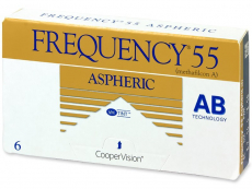 Měsíční kontaktní čočky - Frequency 55 Aspheric (6čoček)
