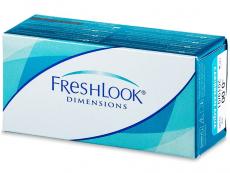 Barevné kontaktní čočky - FreshLook Dimensions - nedioptrické (2čočky)