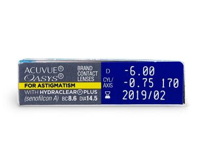 - Acuvue Oasys for Astigmatism (6čoček)