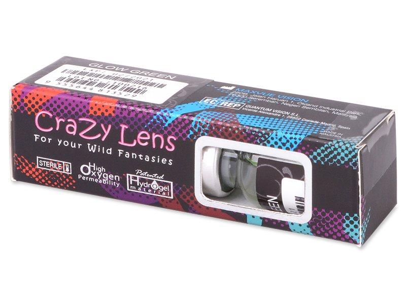 Crazy GLOW (2čočky) - Barevné kontaktní čočky