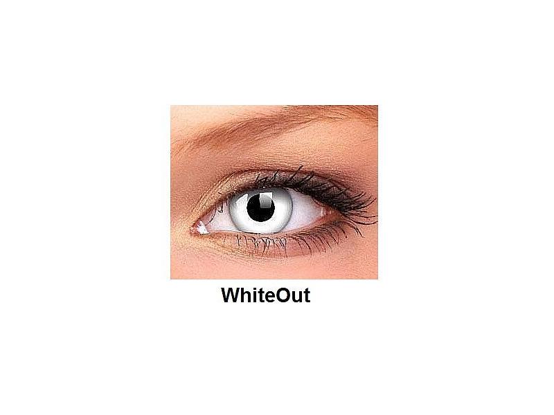 Crazy ColourVUE - dioptrické (2čočky) - WhiteOut