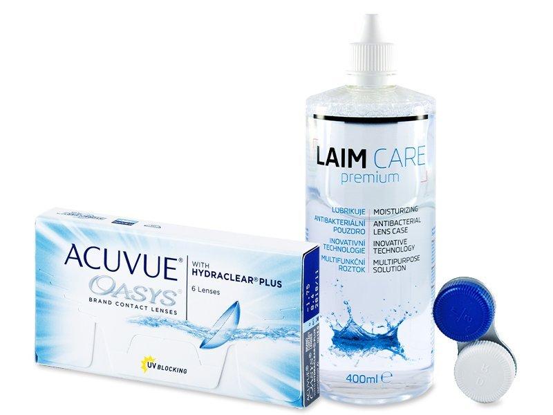 Acuvue Oasys (6čoček) +roztokLaim Care400ml - Výhodný balíček