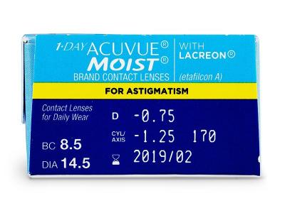 1 Day Acuvue Moist for Astigmatism (30čoček) -