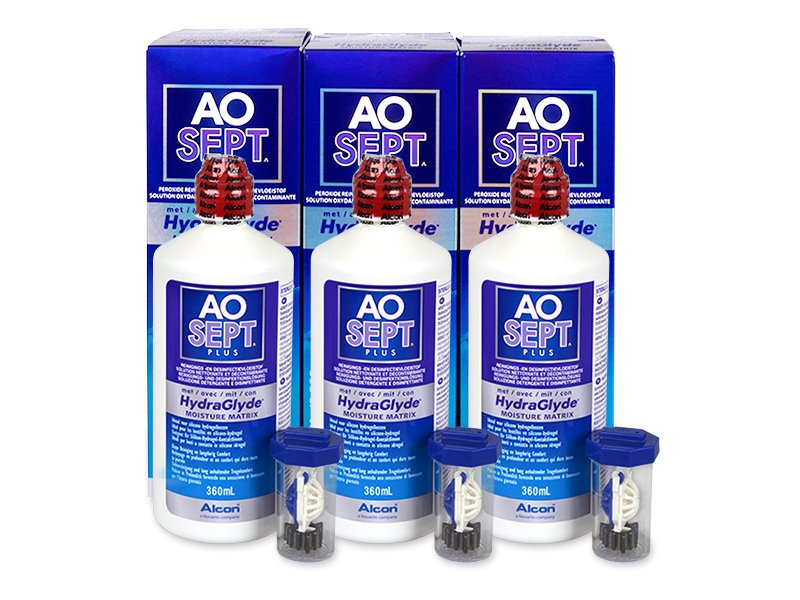 AO SEPT PLUS HydraGlyde 3 x 360 ml